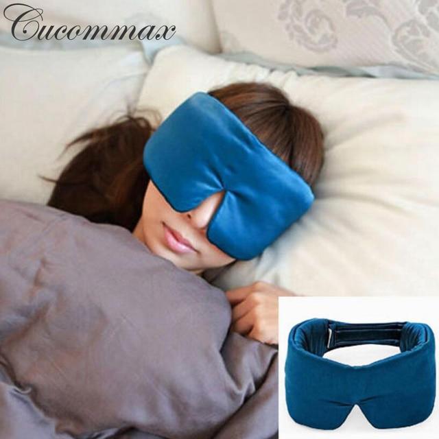 Cucommax 100% Natural Silk Sleeping Eye Mask Eye Shade Thicker Sleep Mask Black Mask Bandage on Eyes for Sleeping-MSK54