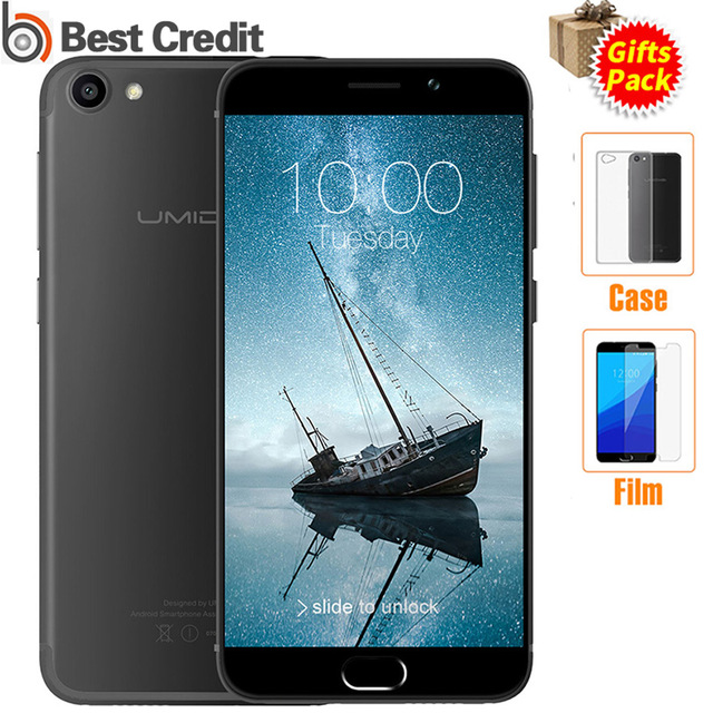 UMIDIGI G Unlocked 4G Smartphone Android 7.0 Original Cellphone 2G RAM 16G ROM Touch ID Dual Sim 5inch Cell phones Mobile phone