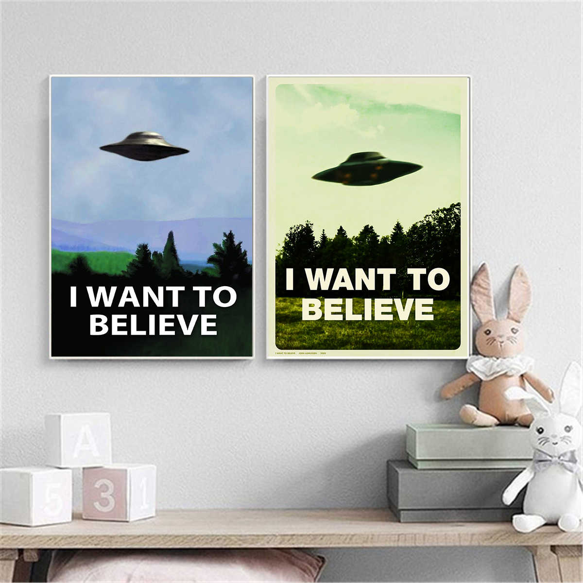 "New arrival Movie Cartoon poster paitning "" i want to believe "" Canvas Printings Canvas Art Oil Painting Home Decor"
