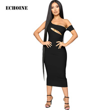Off-shoulder Sexy Long Dress Hollow Out Slim Bodycon Midi Dress Skinny Pencil Club Wear Outfit Elegant Party Vestidos Femme Robe off the shoulder hollow out lace skinny slimming dress