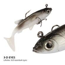 Goture Soft Lure Fishing Lure Lead Fish 8.5cm 16g Wobblers Artificial Bait Fishing Lead Fish Jig Silicone Bait