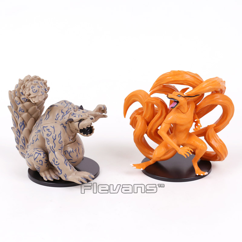 NARUTO Kyuubi Kurama Shuukaku PVC Figures Collectible Model Toys 2pcs/set 11cm ynynoo naruto sasuke kurama pvc action