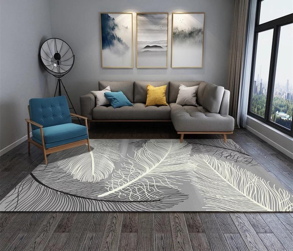 Simplicité Style nordique imprimé tapis grande taille haute qualité maison tapis moderne salon tapis nordique Ins motif géométrique tapis