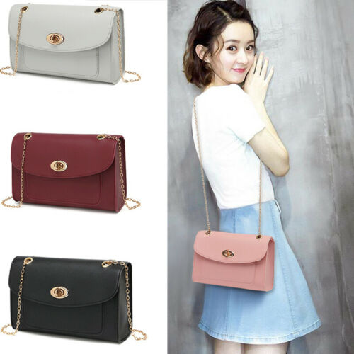 Women Leather Messenger Crossbody Lady Chain Bag Satchel Handbag Tote Travel BAG