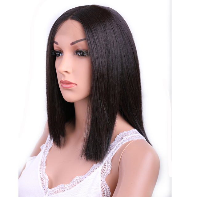Sambraid Kanekalon Synthetic  Lace Front Wig For Black And White Women Medium Size Heat Fire Resistant Hair