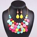 Женская top2015 Мода весна Teardrop продвижение Water Drop Биб ожерелья подвески многоцветный bubble ожерелье ювелирные изделия серьги