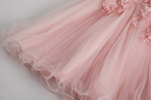 Image 4 - Cielarko Pink White Flower Girl Wedding Dress Kids Formal Party Ball Gown Frock For 3 10 Year Children Birthday Princess Dresses