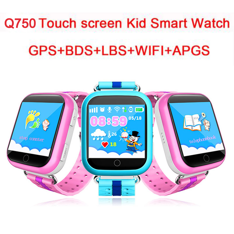 Q750 Children Smart Watch GPS Phone LBS Location SOS Life Waterproof Kid Touch Screen Smartwatch for Baby Safe Anti-Lost Monitor q523 1 44 lcd screen kid gps smart watch phone wristwatch sos location tracker safe monitor baby gift anti lost for ios android