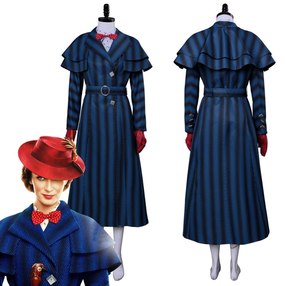 2018 Mary Poppins Returns Cosplay Costume