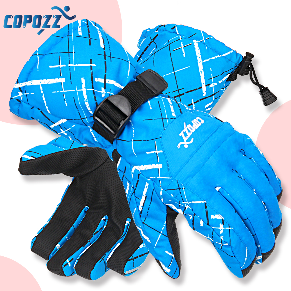 Copozz Men Women Sport Skiing Gloves TPU Motorcycle Riding Waterproof Ski Gloves Winter Warm Thick Snow Glove Snowboard Gloves