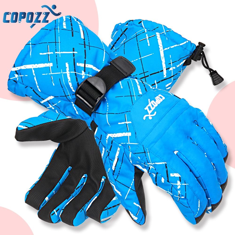 Copozz Men Women Sport Skiing Gloves TPU Motorcycle Riding Waterproof Ski Gloves Winter Warm Thick Snow Glove Snowboard Gloves