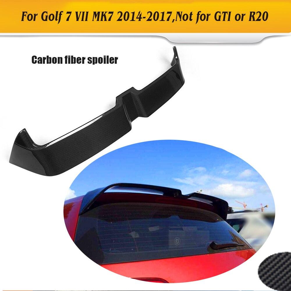 Углеродного волокна задний спойлер на багажник загрузки губ крыла для Volkswagen VW Golf 7 VII MK7 Стандартный хэтчбек только 14-17 не GTI R