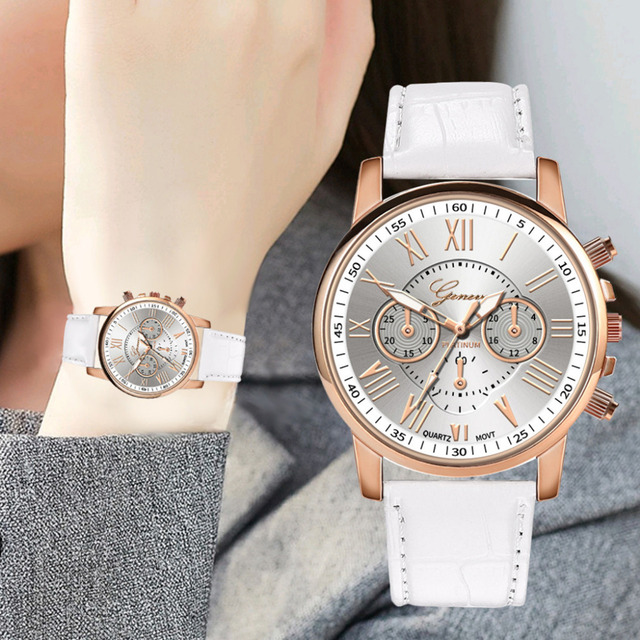Fashion Stainless Steel Geneva Luxury Women Crystal Quartz Analog Wrist Watch re