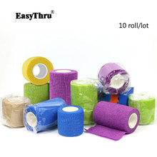 10 roll/box Medical elastic self-adhesive bandage protective ankle nursing ankle pet pressure elastic breathable tape three size