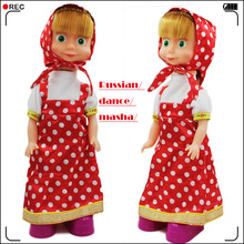 Russian Singing And Dancing Masha Doll toy Electronic Pets Masha And Bear Interactive Toys For Children Educational Kids Toys