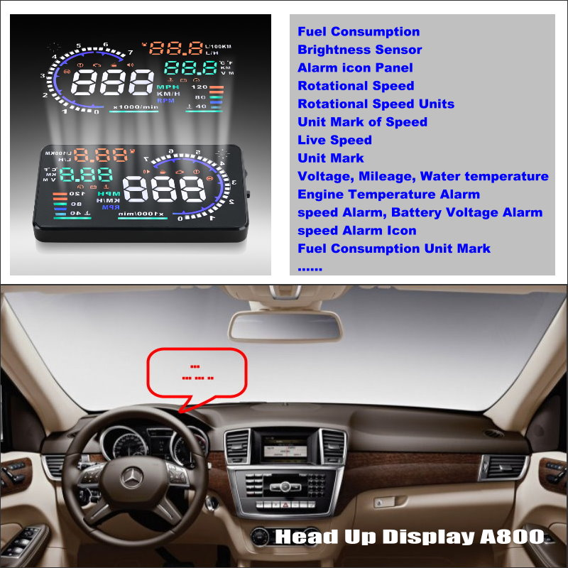 Liislee HUD Head Up Display For Mercedes Benz ML M Class MB W164 Refkecting Car Windshield Screen Safe Driving Screen Projector