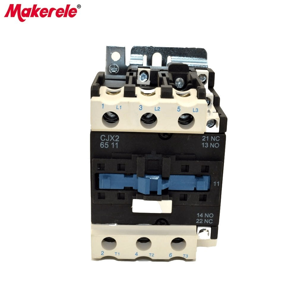 CJX2-6511 AC Contator 65A 50/60Hz LC1 3 Phase 3-Pole 380V 220V 110V 36V 24V 3P+1NO+1NC Din Rail Mount Magnetic AC Contactor new lc1d300m7c tesys d contactor 300a ac 220v 50 60hz lc1 d300m7c