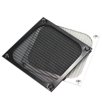 1 PCS 120mm Aluminum Cover Dust Filter for PC Cooling Chassis Fan Grill Guard case Dustproof net. image