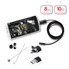 Handheld 10m Waterproof OTG Micro USB Endoscope with 8mm 6LED Lens HD Pinhole Camera Endoscopy Borescope for Android Phone PC
