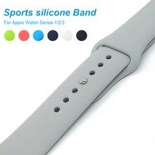Untuk menonton Apple Siri 3/2 silikon Sukan Band untuk menonton epal 42mm 38mm Gantikan Gelang tali jam tangan Watchstrap