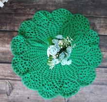Decor Party Wedding Christmas Placemats Cup Mat Mug Pad Green Coasters Cotton Crochet Place Doily Table 40cm Modern Placemat