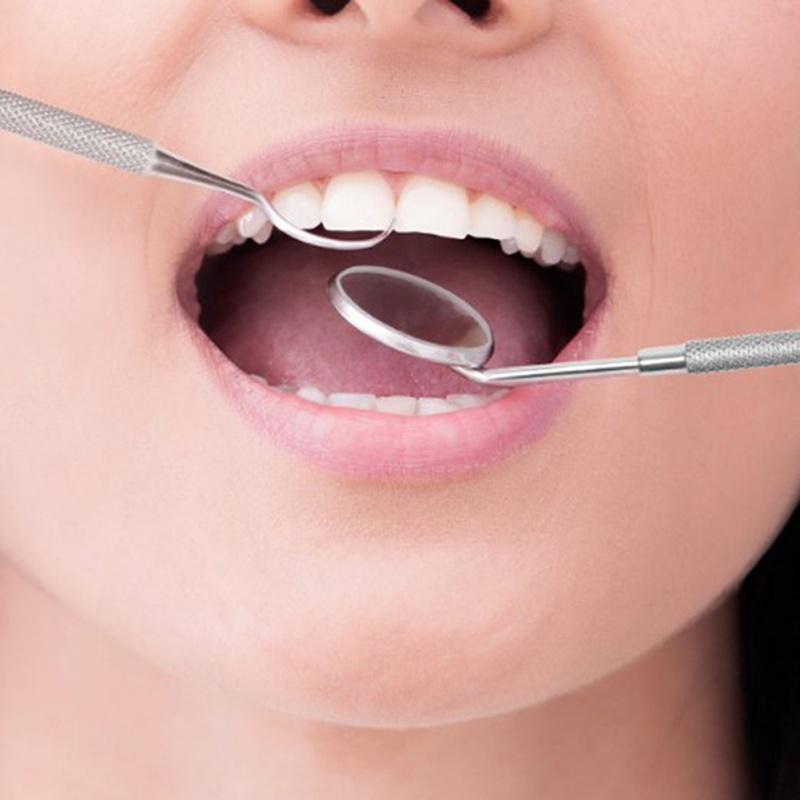 Dental Mirror Stainless Steel Dental Dentist Prepared Tool Set Probe Tooth Care Kit Instrument Tweezer Hoe Sickle Scaler