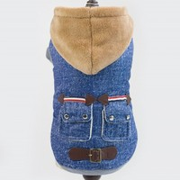 High Quality Leather Buckle Autumn Winter Clothes For Dogs Pets Clothing XXL Dog S Coat Jacket