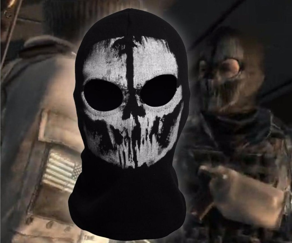 SzBlaZe Brand Call Duty Ghosts Cotton Balaclava Mask Halloween Full Face Game Cosplay Stocking mask CS player Skullies Beanies 4