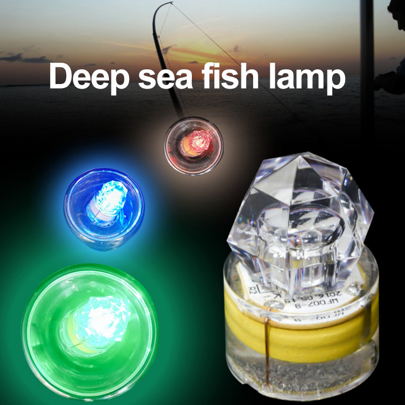 Diamond Deep Water LED Fish Lamps Fishing Light Artificial Underwater Fishing Tackle Flash Universal Creative
