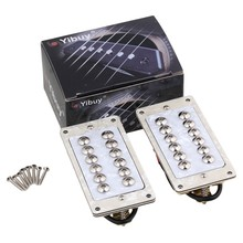 Yibuy 2pcs Double Coil Humbucker for Electric Guitar High Output Tortoiseshell