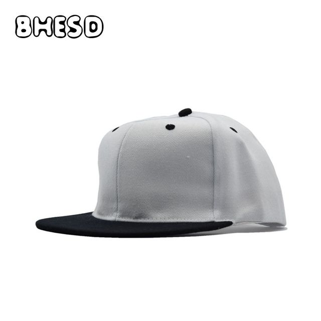 4d02cb1dc26c BHESD 2018 Plain White Women Snapback Hip-hop Hat Flat Baseball Cap Men  Summer Plain Street Fashion Cap Casquette Gorros JY-703