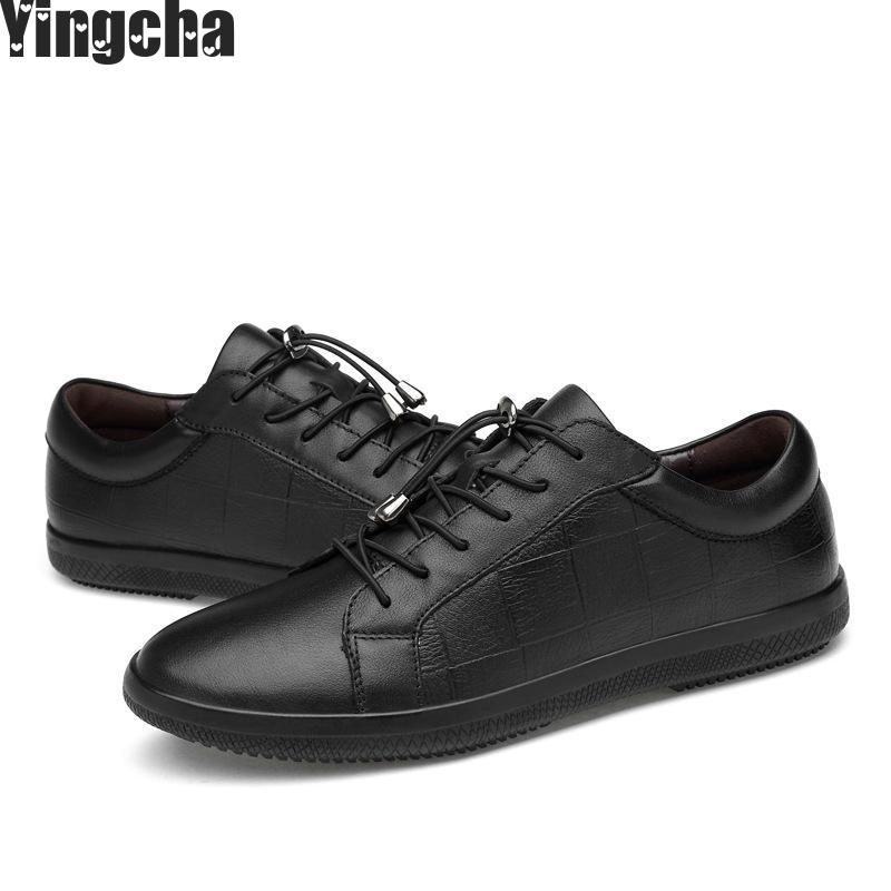 Big Size Flats Shoes High Quality Genuine Leather Men Casual Shoes Fashion Breathable Male Shoes Real Leather Men Flats hot sale mens italian style flat shoes genuine leather handmade men casual flats top quality oxford shoes men leather shoes