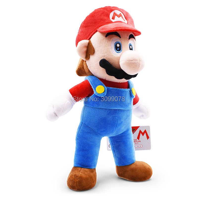 """Big Size 15""""37cm Red Super Mario Bros Standing Supermario Plush Dolls Toy Stuffed Soft Peluche Doll Kids Gifts Free Shipping 2"""