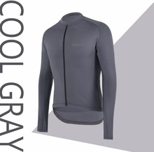 2018 SPEXCEL Cool gray Pro team race fit Winter Spring thermal fleece Cycling Jersey Bicycle clothes for 10-20 degree ride