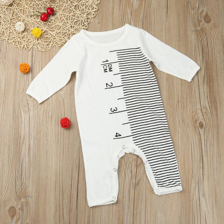 Toddler Baby Rompers Autumn Roupas Infant Jumpsuits Boy Clothing Sets Ruler Pattern Romper Spring Cotton Baby Girl Clothes J6222 cotton baby rompers set newborn clothes baby clothing boys girls cartoon jumpsuits long sleeve overalls coveralls autumn winter