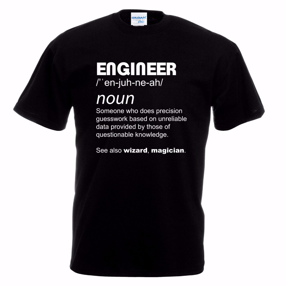 2018 New Arrive Mens Unique Tee Masculine Streetwear Funny Engineer Work Gift Electrical Gas Mechanic Civil Fathers Day T shirt