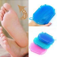 Soft Silicone Massage Scrub Gloves For Peeling Body Bath Bru