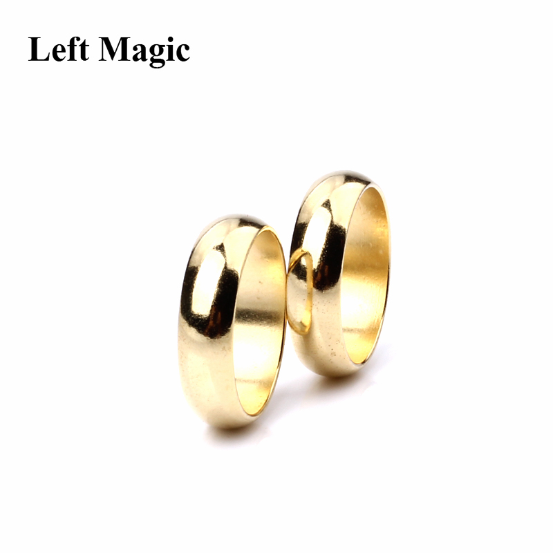 Gold Cambered PK Ring Magic Tricks Strong Magnetic Ring PK Ring Coin Finger Decoration Magic Show Props Size 18 19 20 21mm