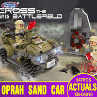 XINGBAO 06010 Genuine Military Series 347Pcs The Oprah Sand Car Set Building Blocks Bricks Toys As