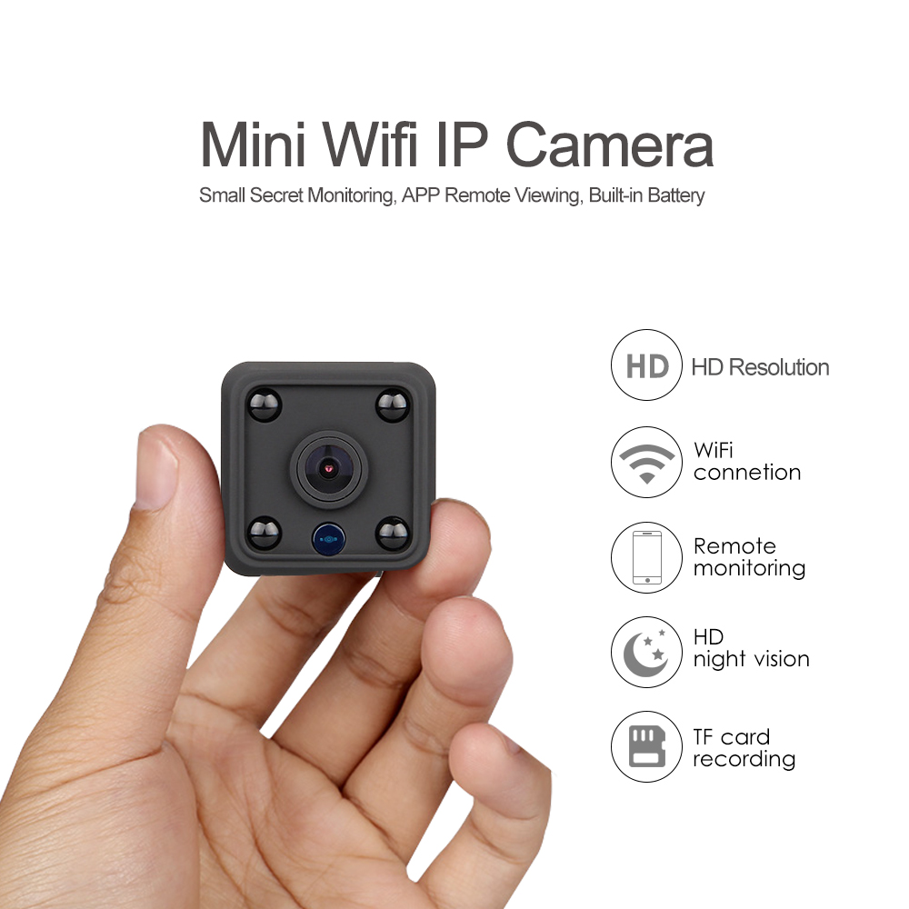 Mini Wifi IP Camera Magnetic Battery Powered Security Camera Invisible Night Vision TF Card Mobile Phone