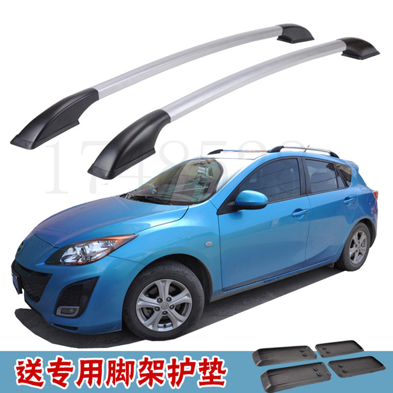 Accessories Refitting the roof rack of aluminum alloy luggage rack for Mazda 3 Hatchback 1.3M partol black car roof rack cross bars roof luggage carrier cargo boxes bike rack 45kg 100lbs for honda pilot 2013 2014 2015