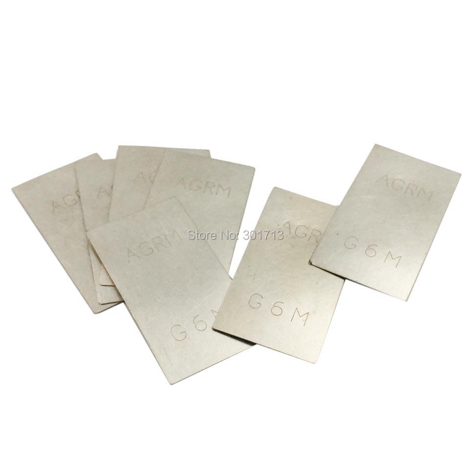 GOXAWEE 2pcs silver welding plate 2g jewelry welding tools for 925 silver, pure silver, 900 silver welding plate welding wire цена
