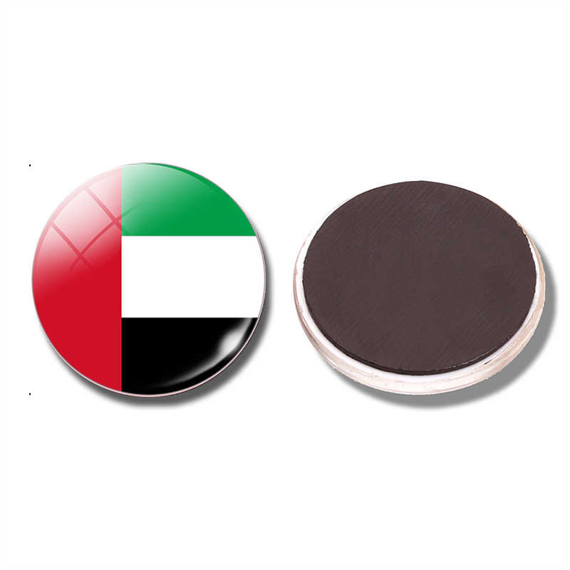 علم الإمارات العربية المتحدة 30 ملليمتر مغناطيس الامارات العلم زجاج قبة المغناطيسي ملصقات الثلاجة ملاحظة حامل الرئيسية الديكور