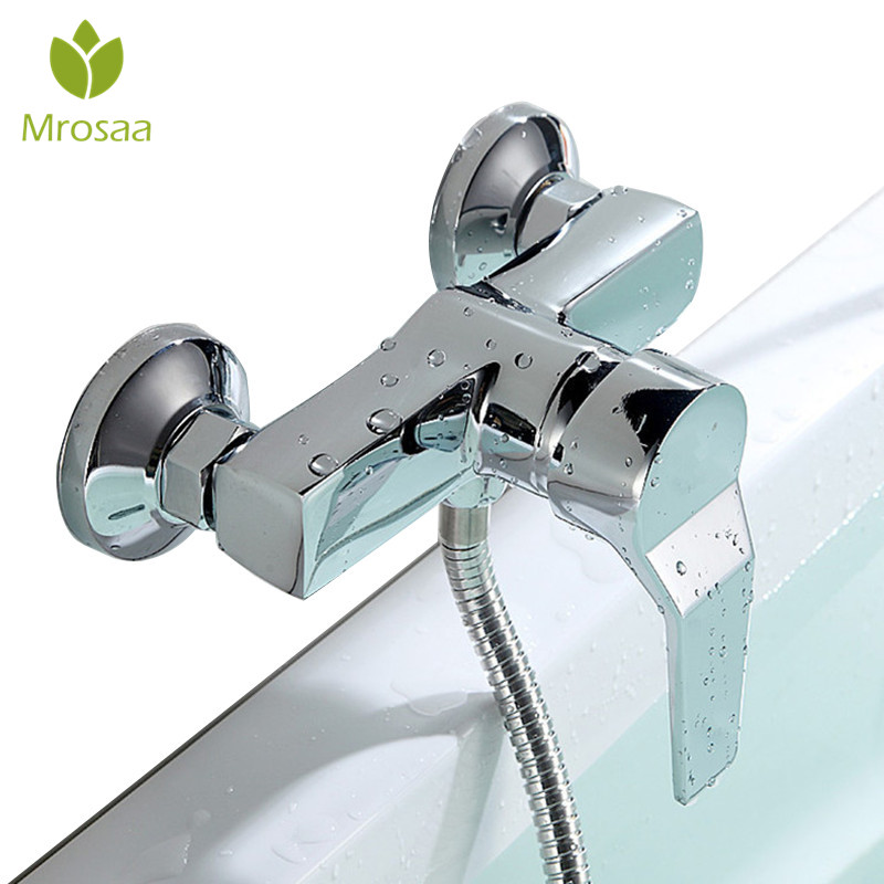 Bathroom Zinc Alloy Wall Mounted Hot & Cold Shower Mixer Valve Single Handle Bath Shower Faucet Basin Bathtub Mixer Tap