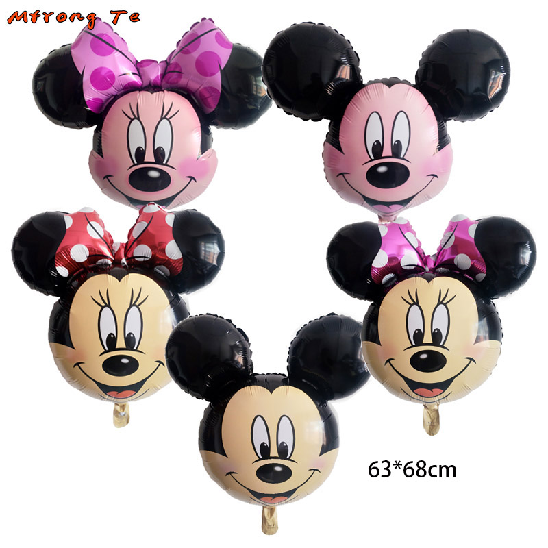 50pcs big size Minnie Mickey Head Foil Balloons for Mickey party Birthday Party baby shower Decoration