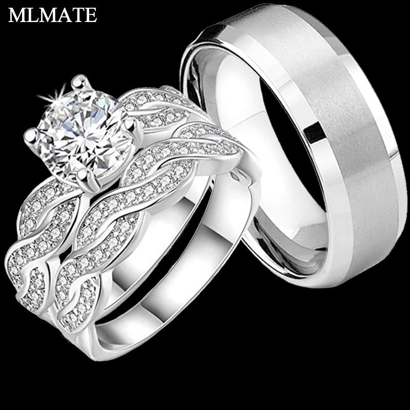 Ő / Hers Infinity Pár Gyűrűk Női Cubic Zirconia Mens - Divatékszer