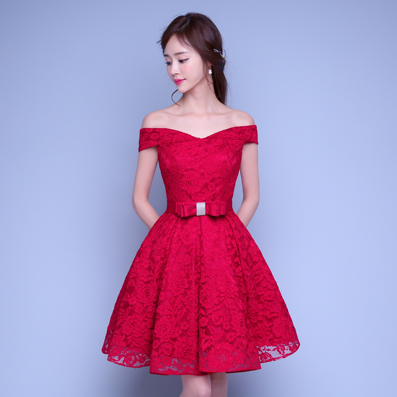 Red Short Wedding Dresses: Popular Burgundy Bridesmaid Dresses-Buy Cheap Burgundy