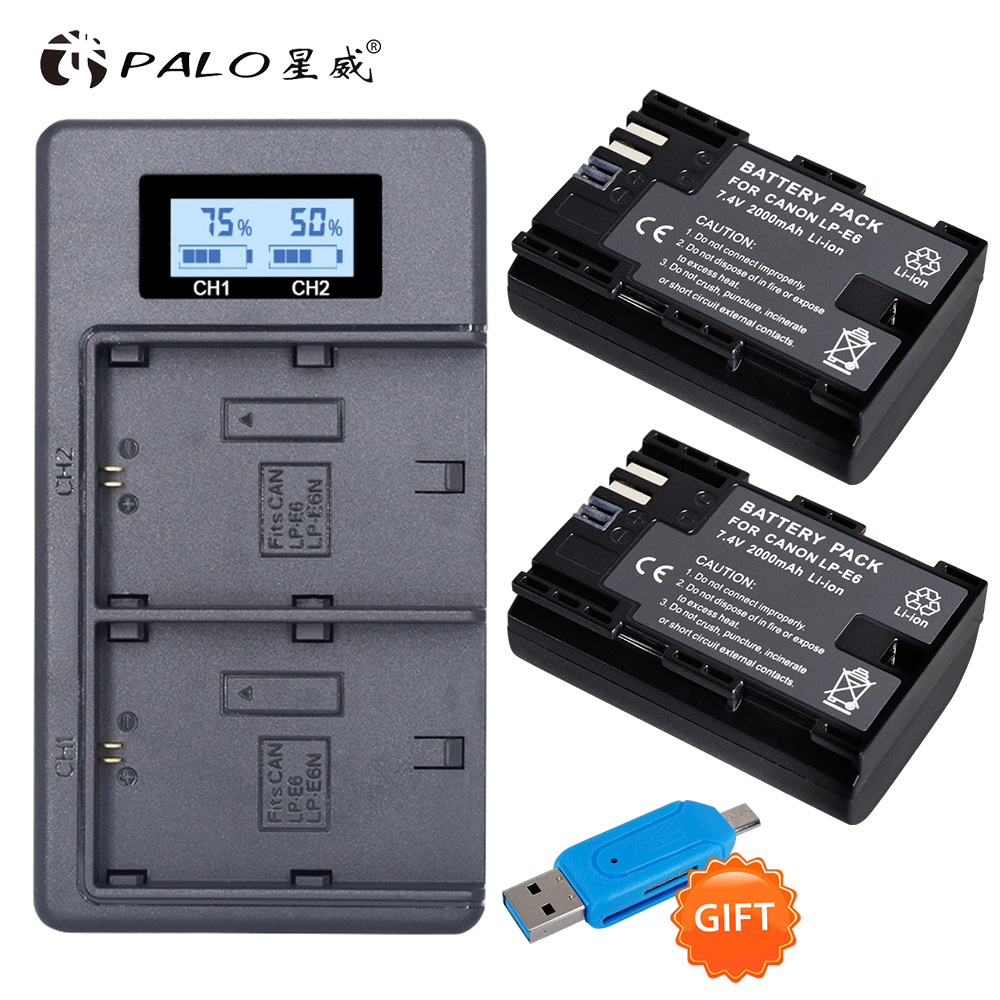 LP-E6 Battery Charger for Canon EOS 5D Mark II III and IV,70D,5Ds,80D, and  for 7D Mark II for 60D Cameras - TARIFIKLAN COM