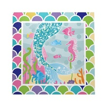 10pcs Mermaid theme napkin party decoration easter wedding baby shower happy birthday Paper towel Party supplies hot