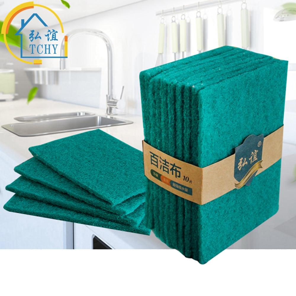 ᐅ10 unids/set altamente eficiente estropajo plato paño de limpieza ...
